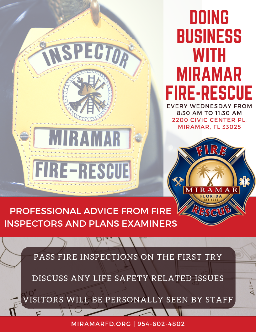 FLS Initiative Doing Business with Miramar Fire-Rescue